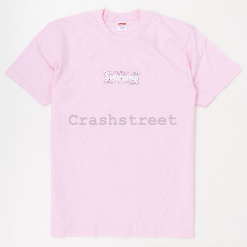 Bandana Box Logo Tee in Pink
