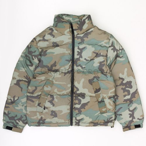 Reflective Camo Down Jacket in Green Camo