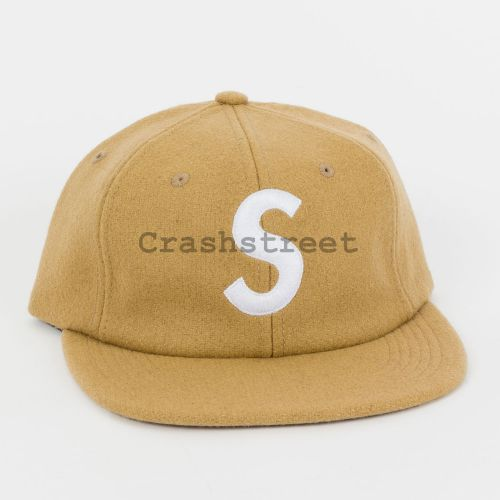Wool S Logo 6-Panel - Tan