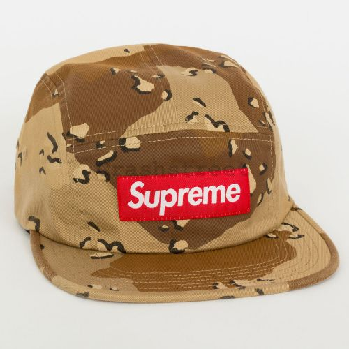 Washed Chino Twill Camp Cap - Tan Camo