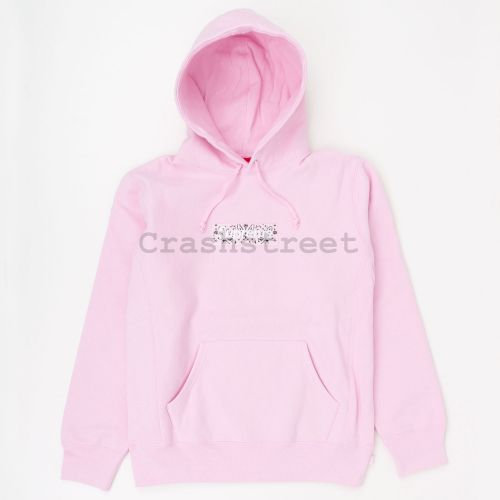 Bandana Box Logo Hooded Sweatshirt in Pink