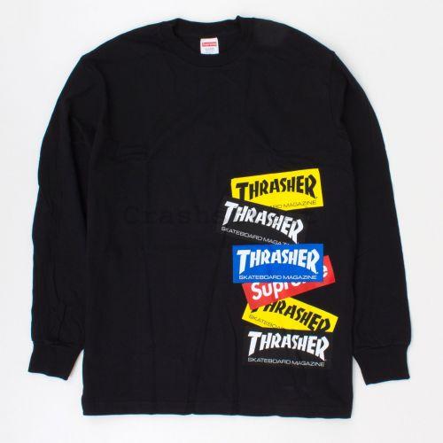 Thrasher Multi Logo LS Tee in Black