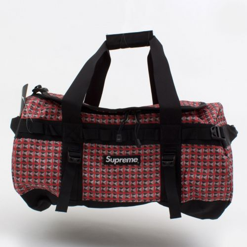 TNF Studded Small Base Camp Duffle Bag 42L in Red