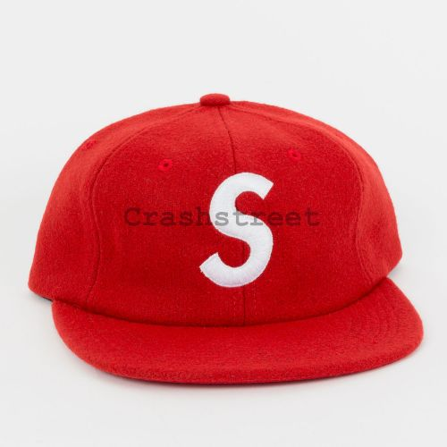 Wool S Logo 6-Panel - Red