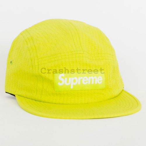 Tonal Seersucker Camp Cap - Green