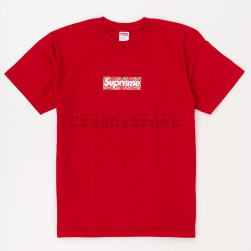 Bandana Box Logo Tee in Red