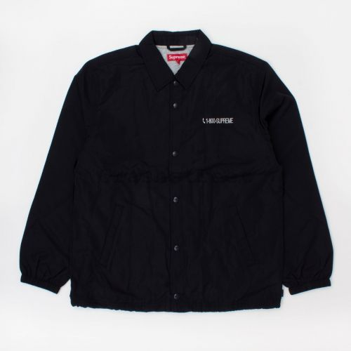 1-800 Coaches Jacket (fw19) in Black