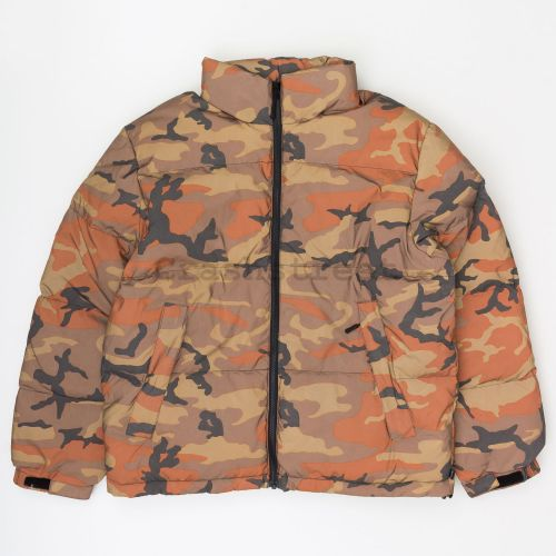 Reflective Camo Down Jacket in Orange Camo