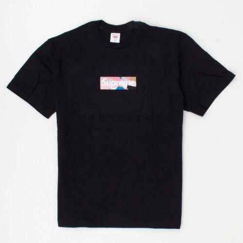 Emilio Pucci Box Logo Tee in Black / Pink