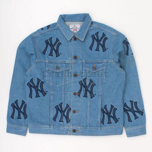 New York Yankees Denim Trucker Jacket in Blue