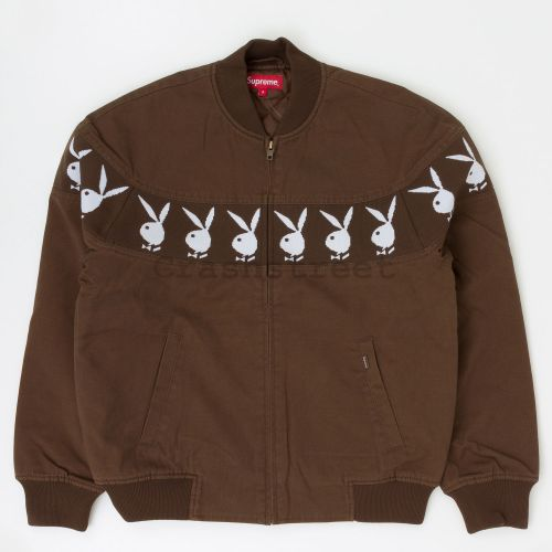 Playboy Crew Jacket in Brown