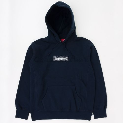 Bandana Box Logo Hooded Sweatshirt - Navy