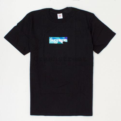 Emilio Pucci Box Logo Tee in Black / Blue