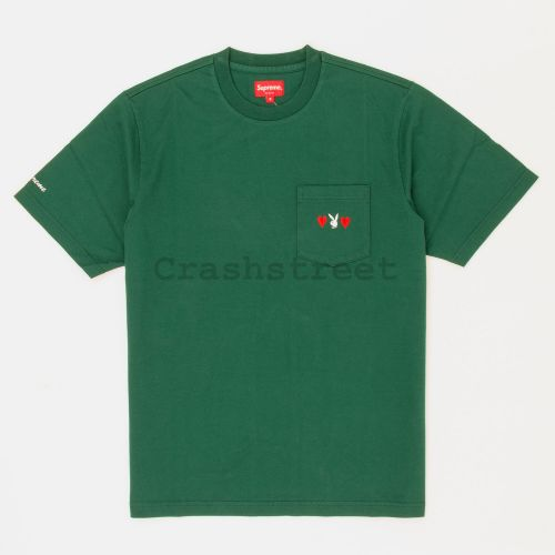 Playboy Pocket Tee in Green