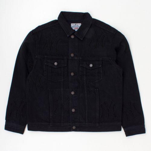 New York Yankees Denim Trucker Jacket in Black