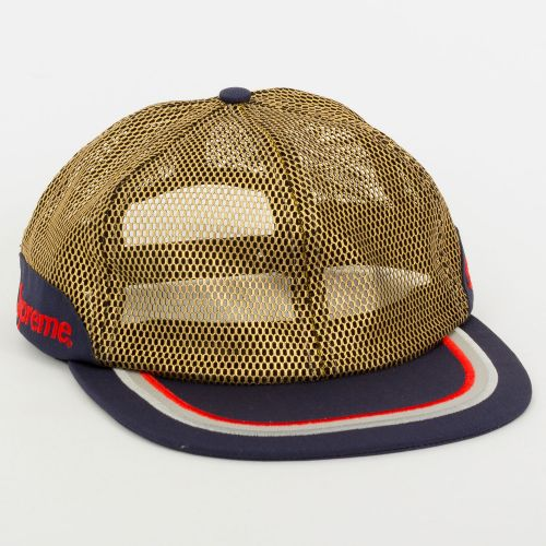 Metallic Mesh 6-Panel Hat - Brown