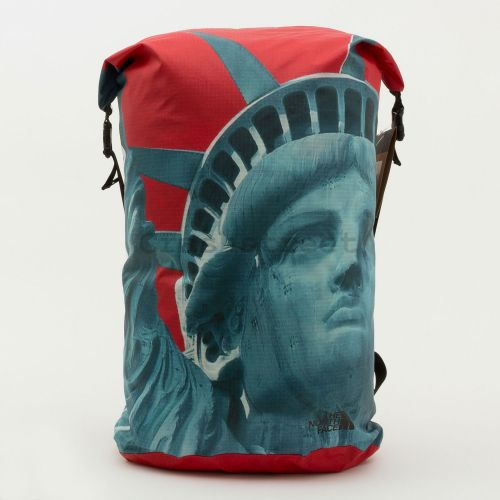 The North Face Statue Of Liberty Waterproof Backpack - Red