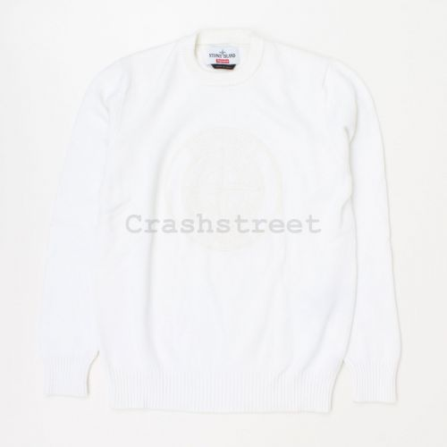 Stone Island Reflective Compass Sweater in White