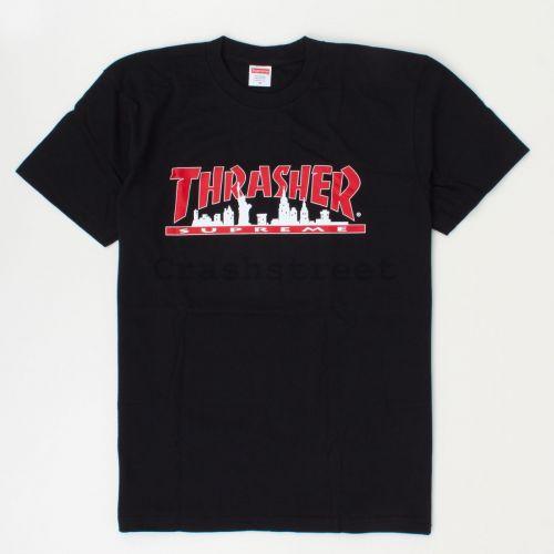 Thrasher Skyline Tee in Black
