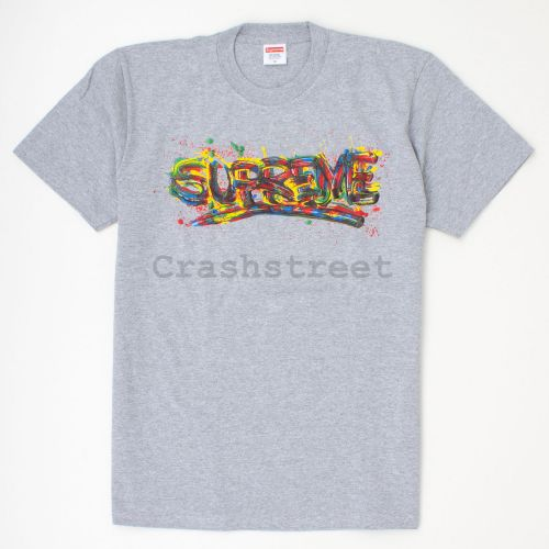 Paint Logo Tee in Grey