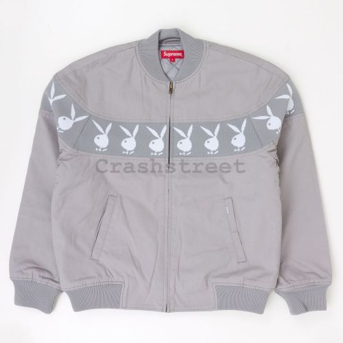 Playboy Crew Jacket in Grey