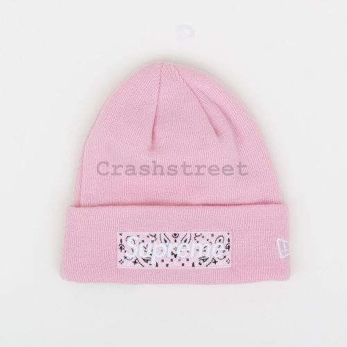 New Era Box Logo Beanie - Pink