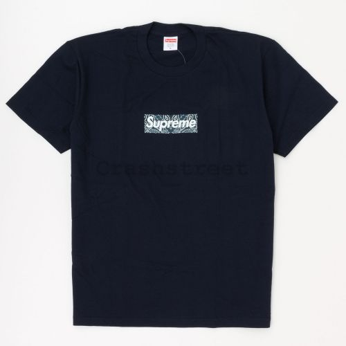 Bandana Box Logo Tee in Navy