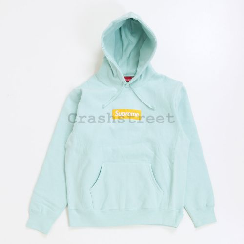 Box Logo Hooded Sweatshirt - Blue