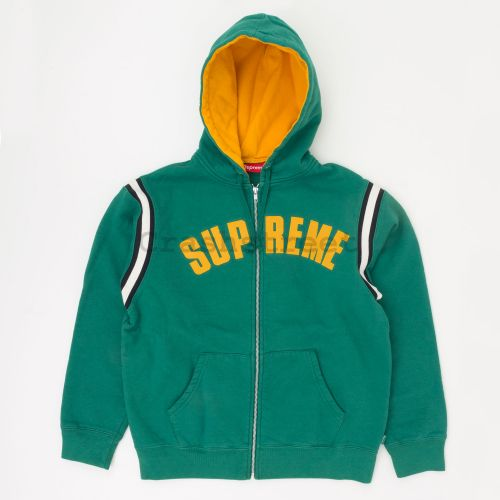 Jet Sleeve Zip Up Hooded Sweatshirt