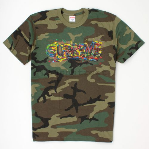 Paint Logo Tee in Camo