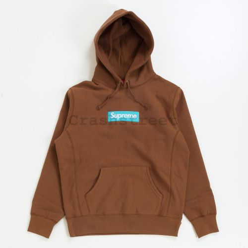 Box Logo Hooded Sweatshirt - Brown