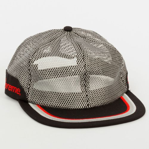 Metallic Mesh 6-Panel Hat - Black