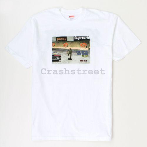 Thrasher Game Tee in White