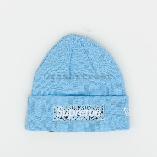 New Era Box Logo Beanie in Blue