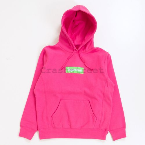 Box Logo Hooded Sweatshirt - Pink