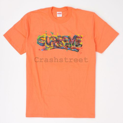 Paint Logo Tee in Orange
