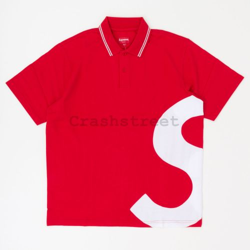 S Logo Polo in Red