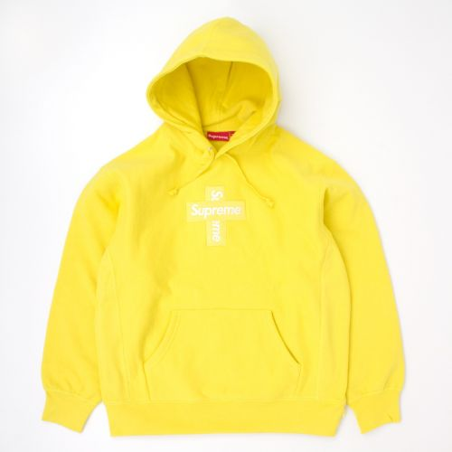 Cross Box Logo Hooded Sweatshirt in Yellow