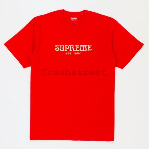 Nouveau Logo Tee in Red