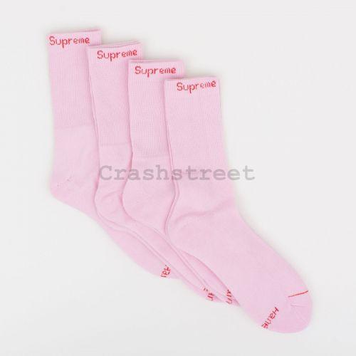 Hanes Crew Socks (4 Pack) - Pink in Pink