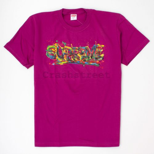 Paint Logo Tee in Magenta