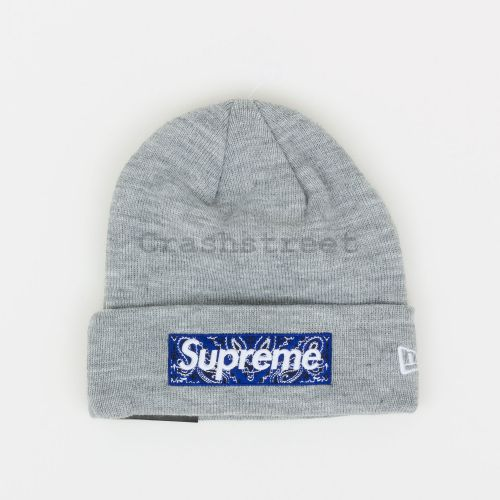 New Era Box Logo Beanie - Grey