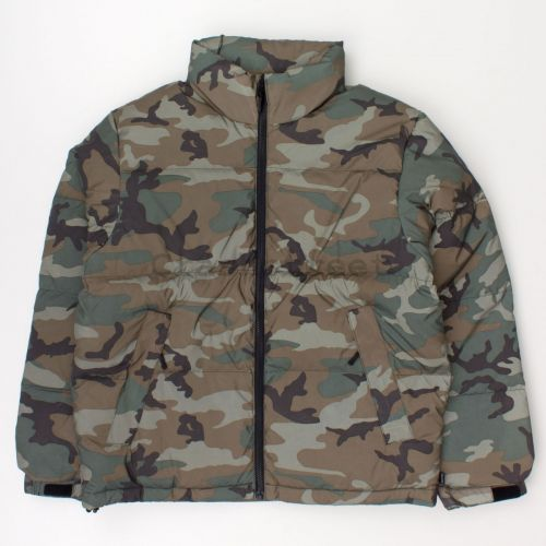 Reflective Camo Down Jacket in Green