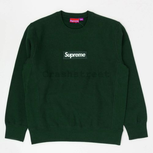 Box Logo Crewneck in Dark Green