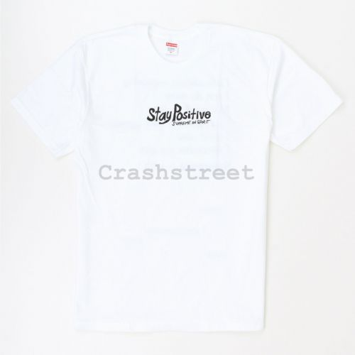 Stay Positive Tee - White