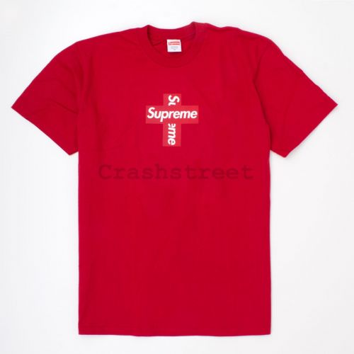 Cross Box Logo Tee in Red