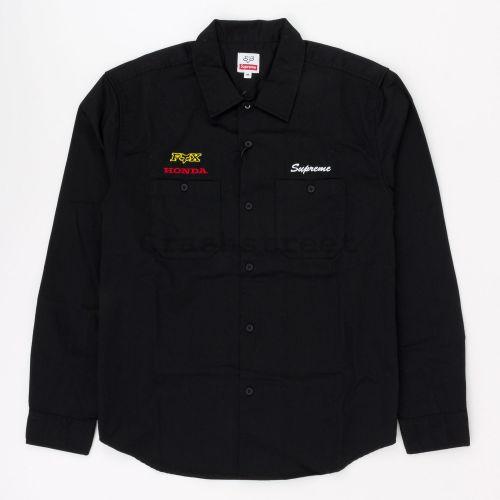 Honda Fox Racing Work Shirt - Black