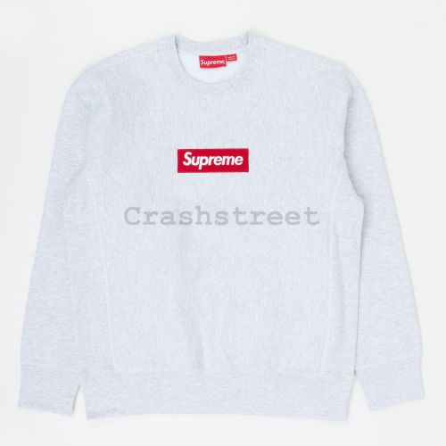 Box Logo Crewneck in Grey