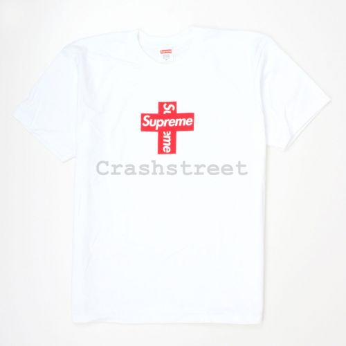 Cross Box Logo Tee in White