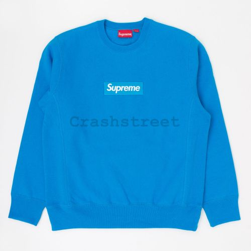Box Logo Crewneck in Light Blue